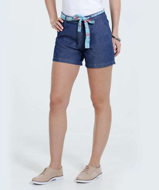 Image_Bermuda Feminina Jeans Cinto Marisa