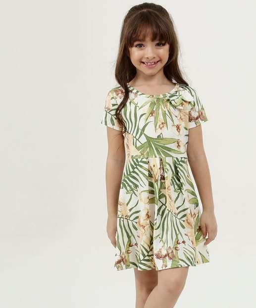 Image_Vestido Infantil Estampa Floral Manga Curta