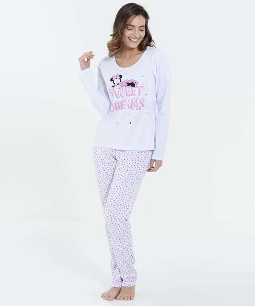 Image_Pijama Feminino Minnie Manga Longa Disney