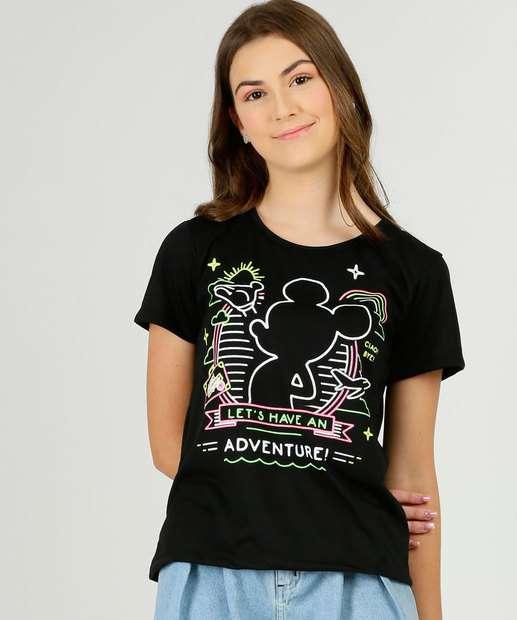 Image_Blusa Juvenil Manga Curta Mickey Disney Tam 10 a 16