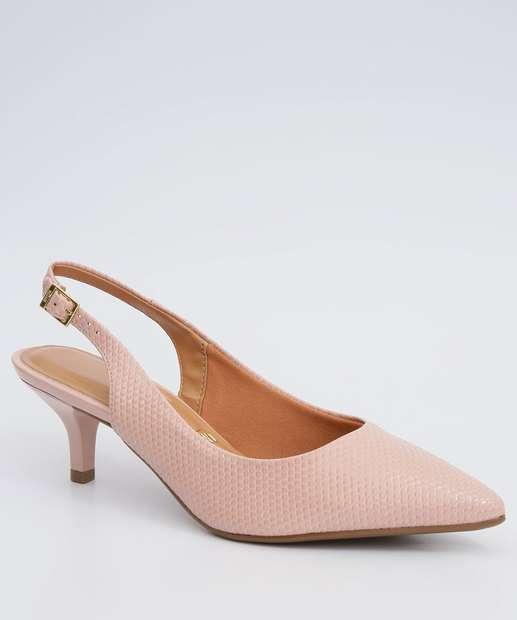 Image_Scarpin Feminino Chanel Textura Bico Fino Vizzano