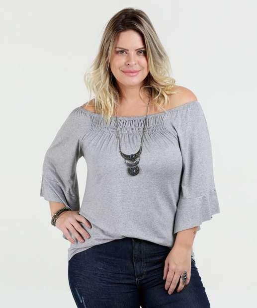Image_Blusa Feminina Babado Ombro a Ombro Plus Size Luktal