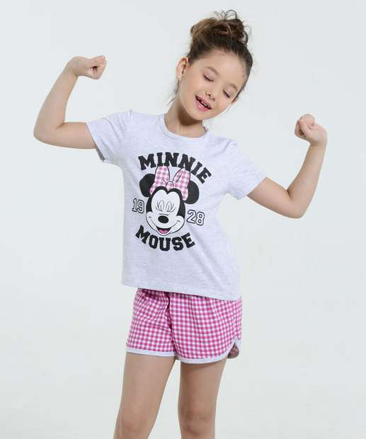 Image_Pijama Infantil Estampa Minnie Xadrez Disney