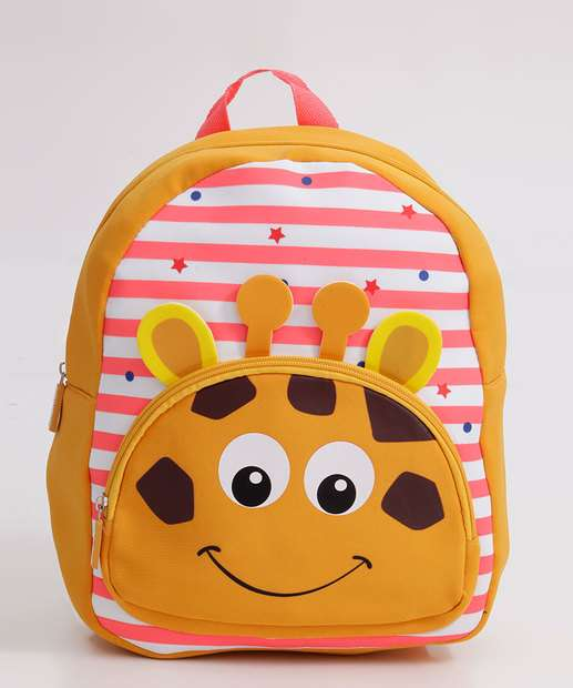 Image_Mochila Infantil Unissex Escolar Listrada Girafa Clio