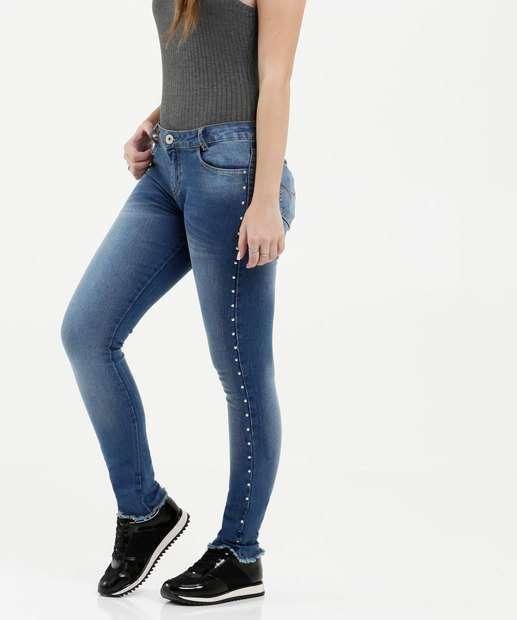 Image_Calça Juvenil Jeans Tachas
