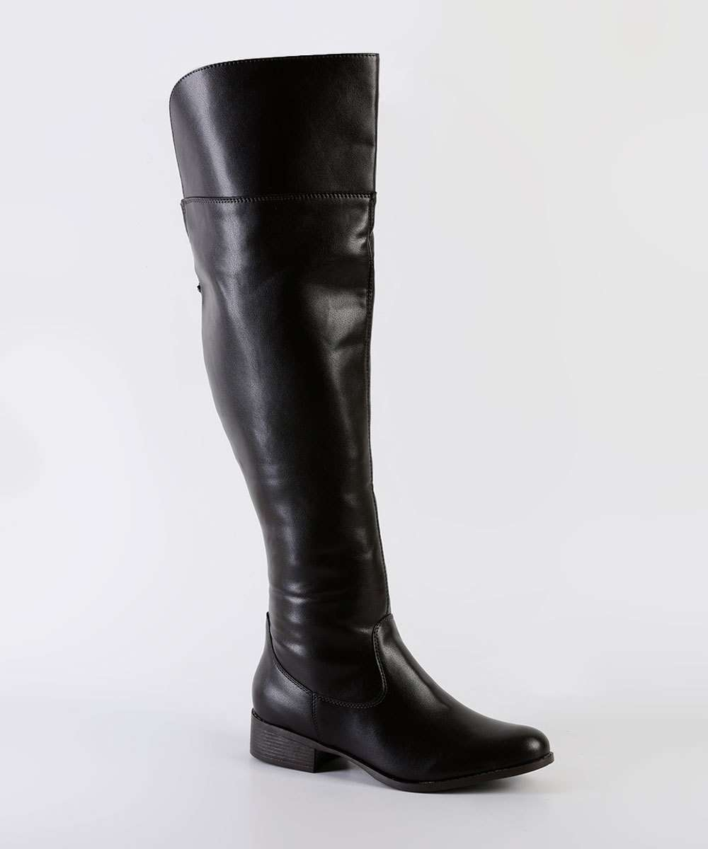 Bota Feminina Over The Knee Cano Alto Via Uno