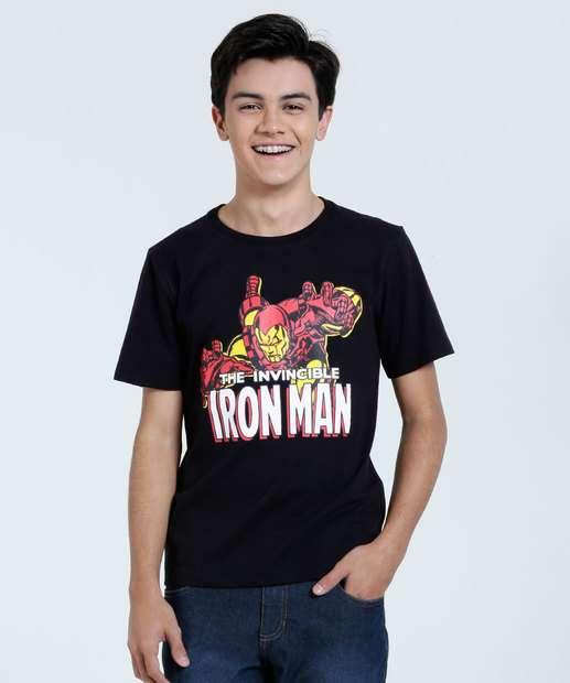 Image_Camiseta Juvenil Estampa Homem de Ferro Marvel