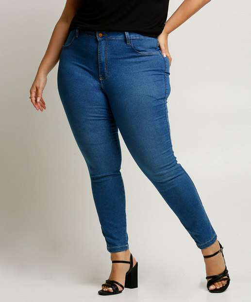 Image_Calça Plus Size Feminina Jeans Skinny
