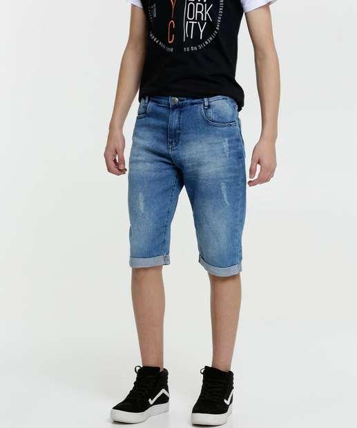 Image_Bermuda Juvenil Jeans Barra Dobrada