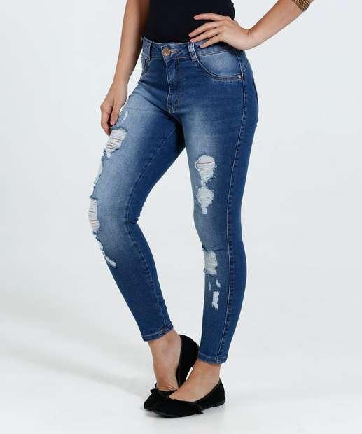 Image_Calça Feminina Skinny Jeans Stretch Puídos Biotipo