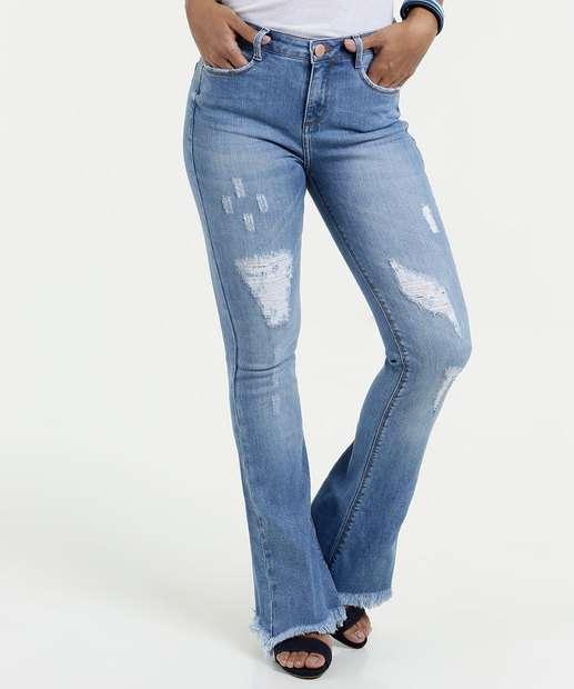 Image_Calça Feminina Jeans Flare Puidos Marisa