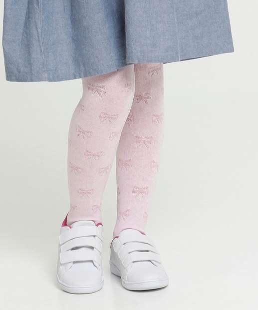 Image_Meia Calça Infantil Textura Laços Marisa