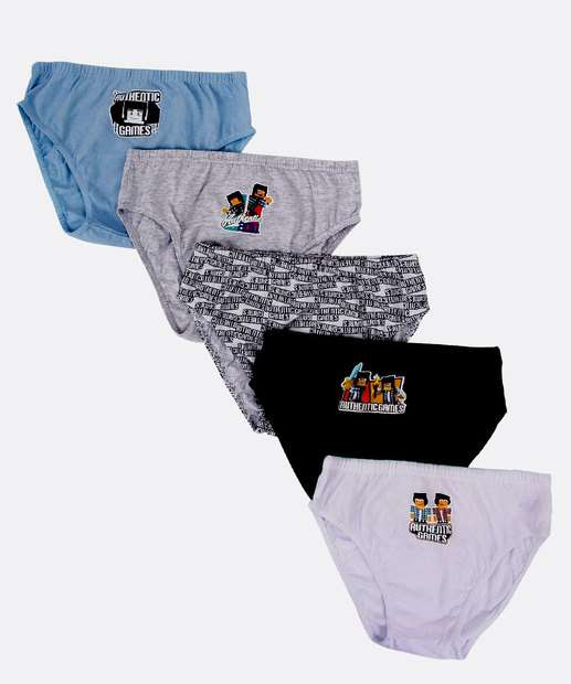 Image_Kit 5 Cuecas Infantil Slip Authentic Games