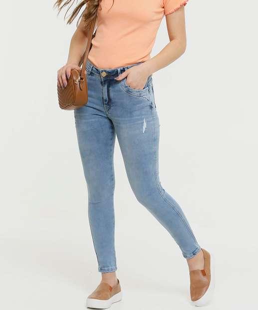 Image_Calça Feminina Puídos Skinny Zune Jeans