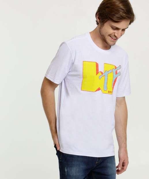 Image_Camiseta Masculina Estampa Frontal Neon Manga Curta MR