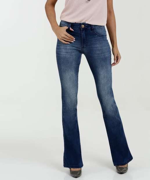 1fd08ae7e Calça Feminina Jeans Flare Biotipo