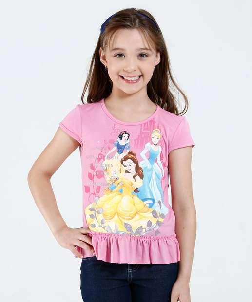 Image_Blusa Infantil Estampa Princesas Babado Disney