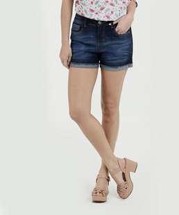 Short Feminino Jeans Strech Cintura Média Marisa