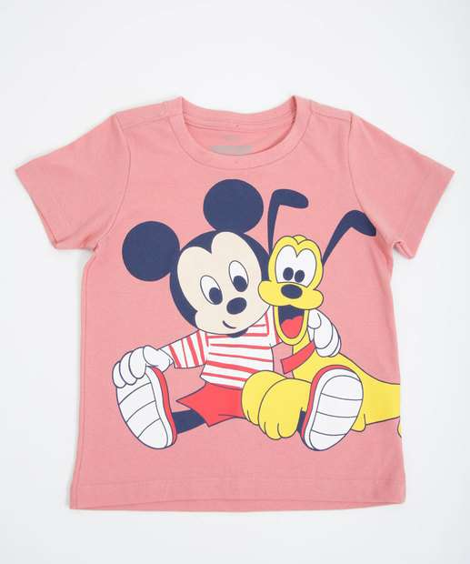Image_Camiseta Infantil Manga Curta Mickey Disney Tam 1 a 4
