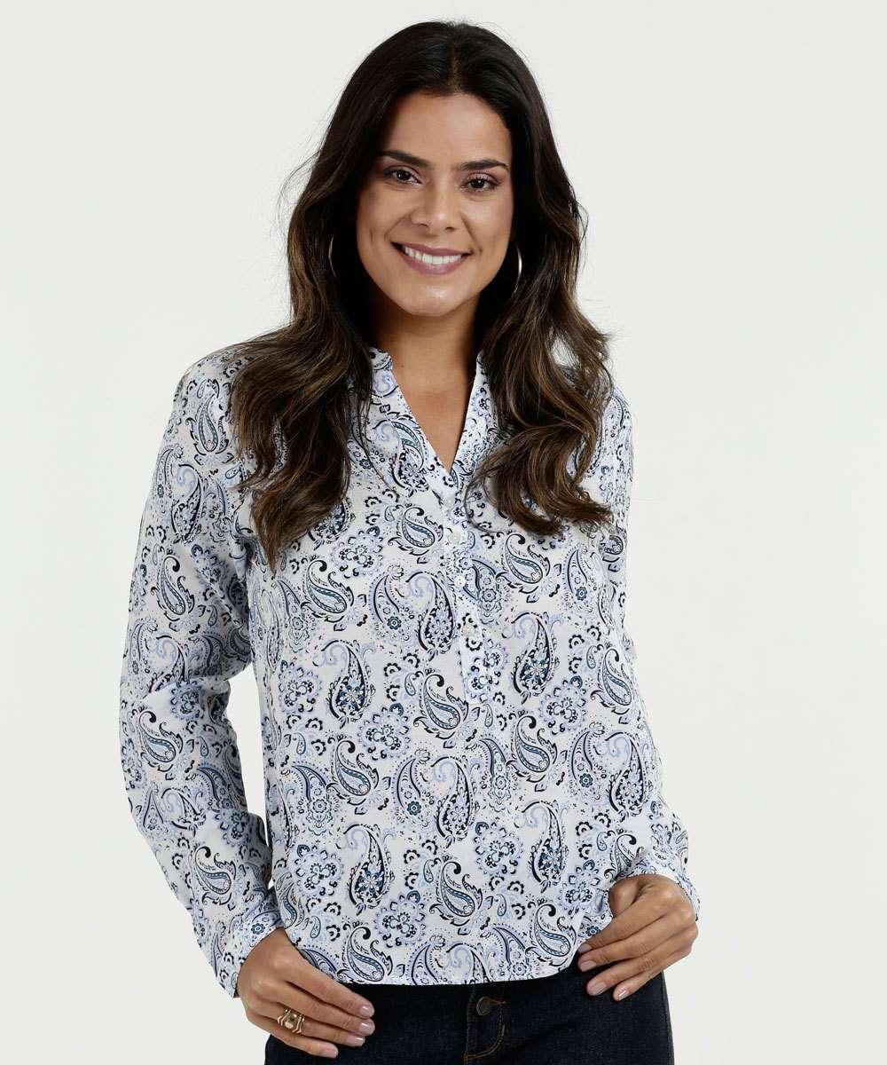 9fe5bce2a0 Menor preço em Camisa Feminina Paisley Manga Longa Marisa