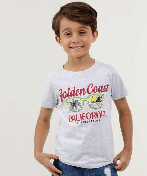 Image_Camiseta Infantil Estampa Óculos Manga Curta MR