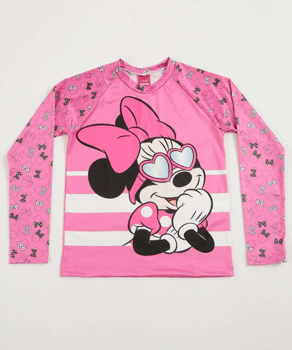 Blusa Praia Infantil Estampa Minnie Proteção UV Disney   Marisa 08afe69e7b