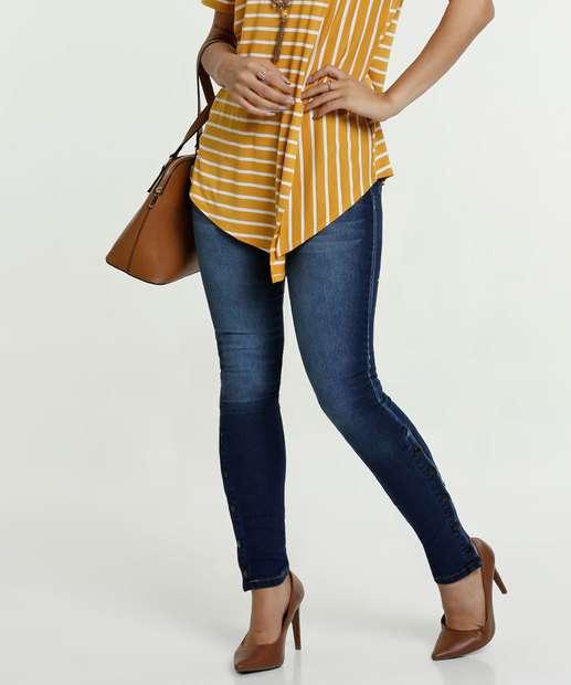 Image_Calça Feminina Jeans Skinny Botões Biotipo