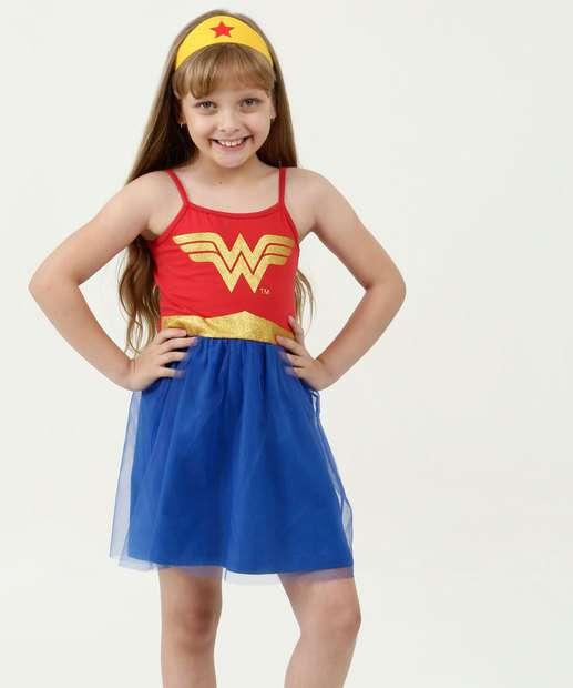 Image_Vestido Infantil Mulher Maravilha Brinde Liga da Justiça