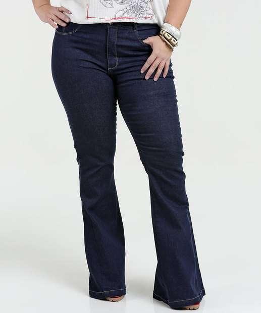 Image_Calça Feminina Jeans Flare Stretch Plus Size Razon