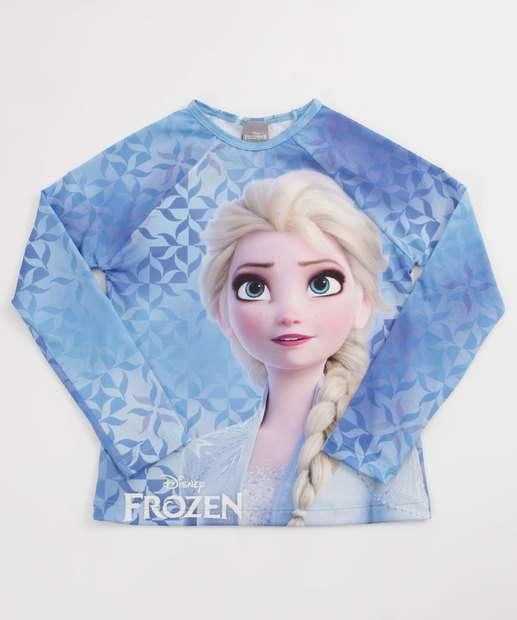 Image_Blusa Infantil Praia Estampa Frozen Proteção UV Disney