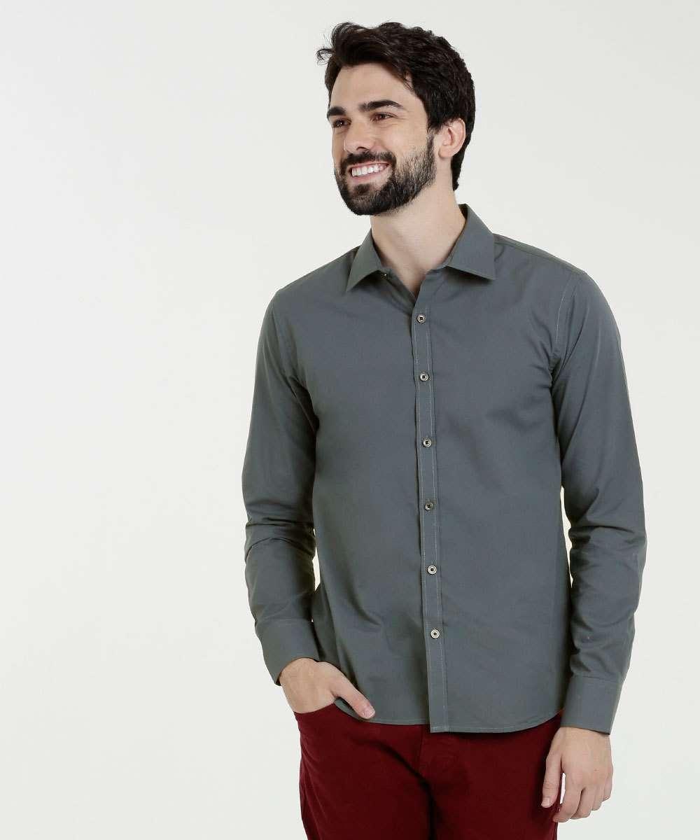 Camisa Masculina Slim Manga Longa Yacht Master