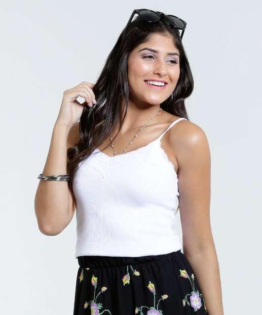 Image_Blusa feminina com renda  alças finas Marisa