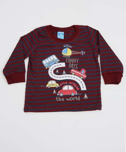 Image_Camiseta Infantil Bebê Listrada Manga Longa