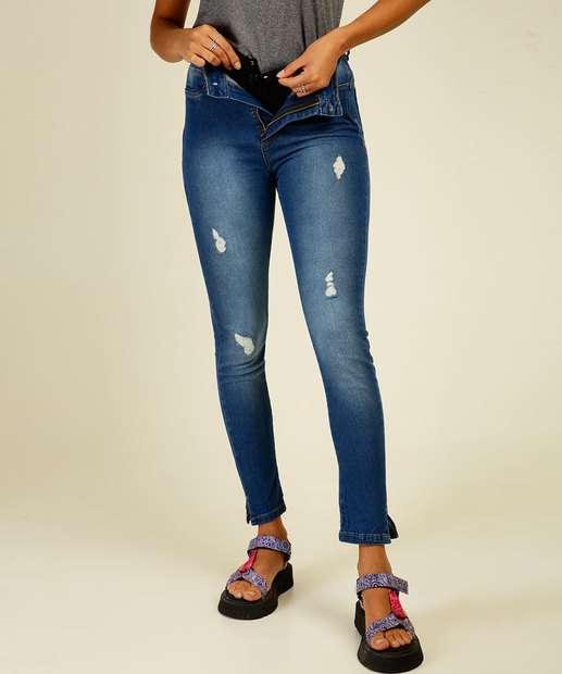 Image_Calça Jeans Cigarrete Feminina Super Lipo Modeladora Sawary