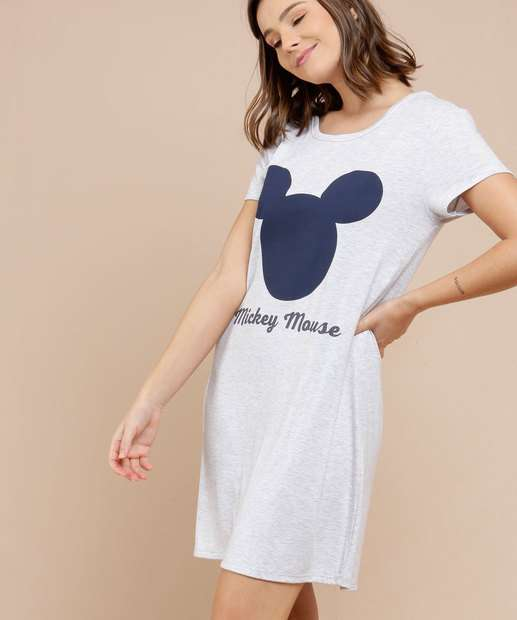 Image_Camisola Feminina Estampa Mickey Manga Curta Disney