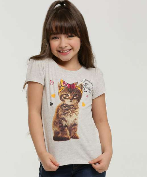 Image_Blusa Infantil Estampa Gato Manga Curta Marisa