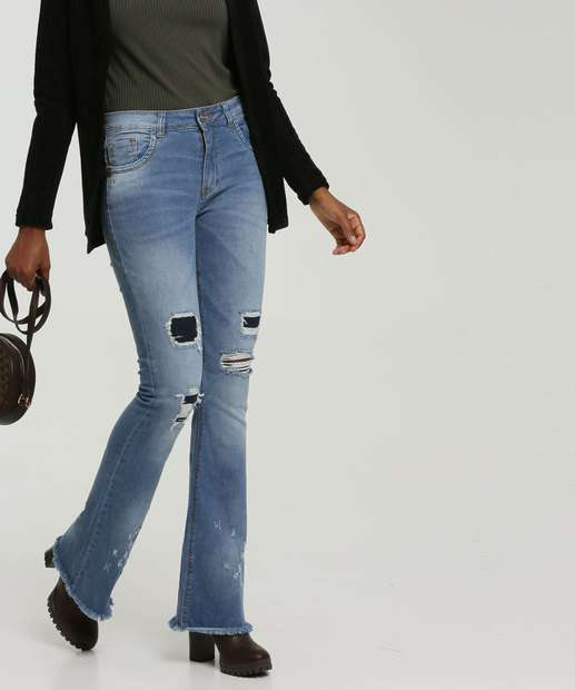 Image_Calça Flare Destroyed Feminina Zune Jeans By Sabrina Sato