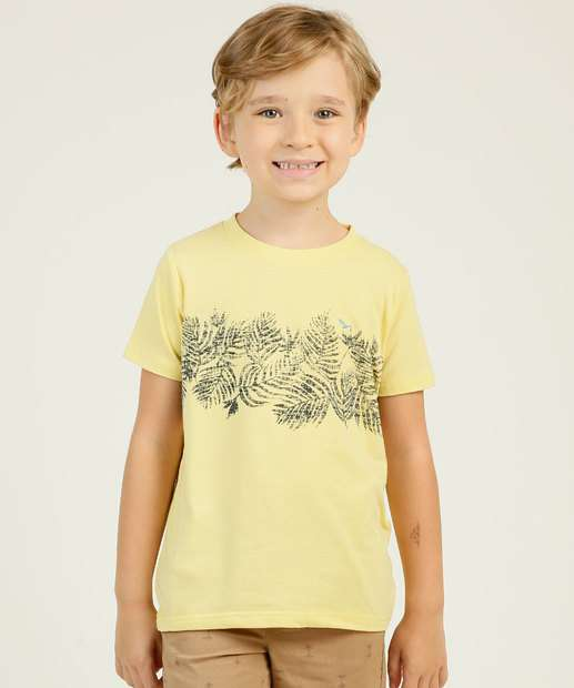 Image_Camiseta Infantil Manga Curta Folhas Yacht Master Tam 4 a 10