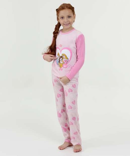 Image_Pijama Infantil Estampa Princesas Manga Longa Disney
