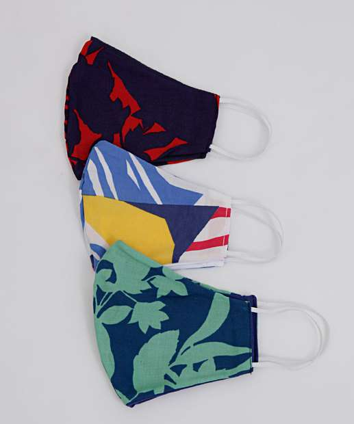 Image_Kit 3 Máscaras Proteção Feminina Estampa Floral