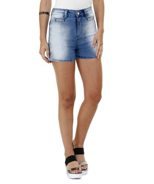 Image_Bermuda feminina em jeans  com strass Marisa