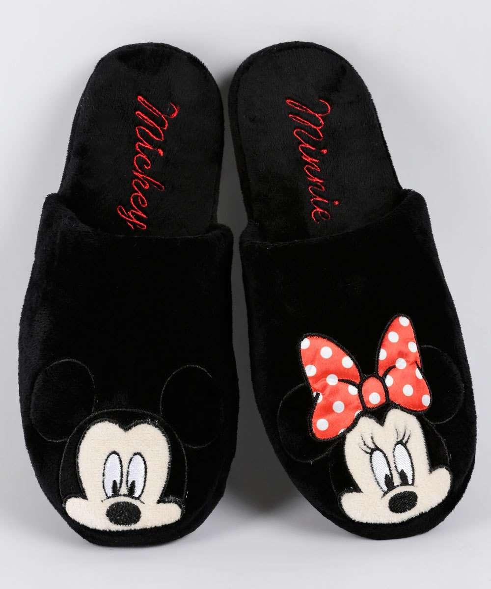 754db0132b51b0 Menor preço em Pantufa Feminina Plush Bordado Mickey E Minnie Disney