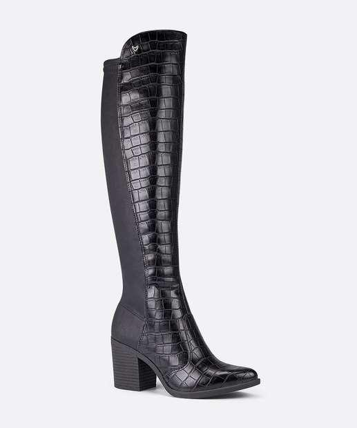 Image_Bota Feminina Over The Knee Textura Croco Mississipi