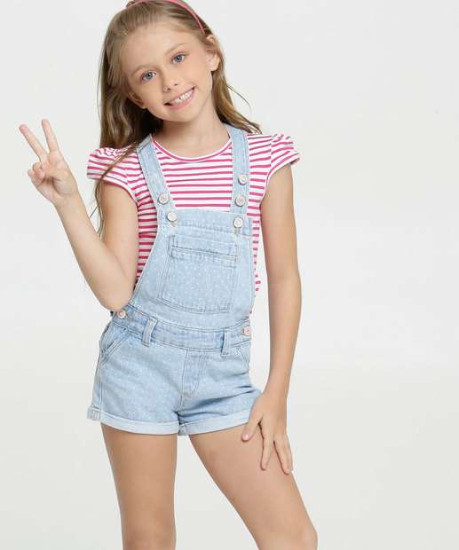 Image_Jardineira Infantil Jeans Estampa Bolinhas Marisa