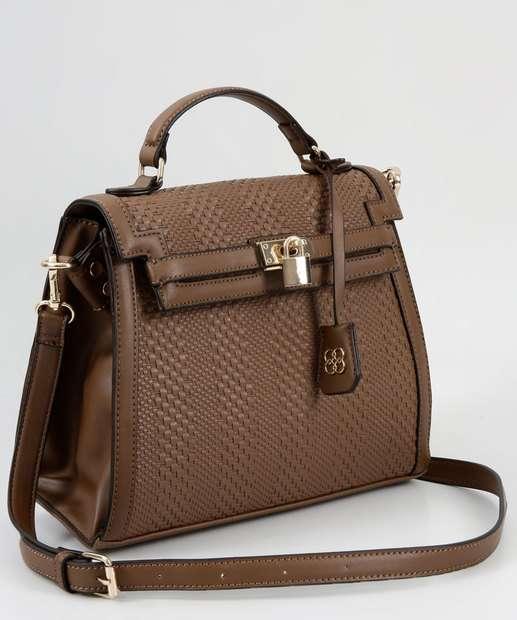 7791cb61e Bolsa Feminina de Mão Textura Chenson