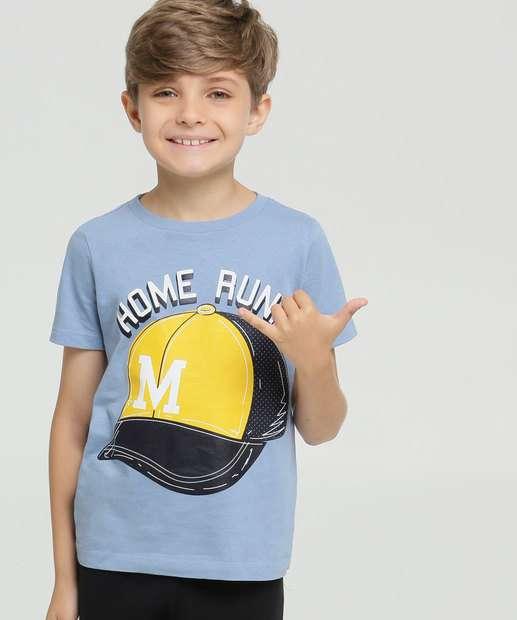 Image_Camiseta Infantil Estampa Boné Manga Curta MR