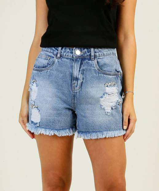 Image_Short Jeans Destroyed Feminino Pedraria Marisa