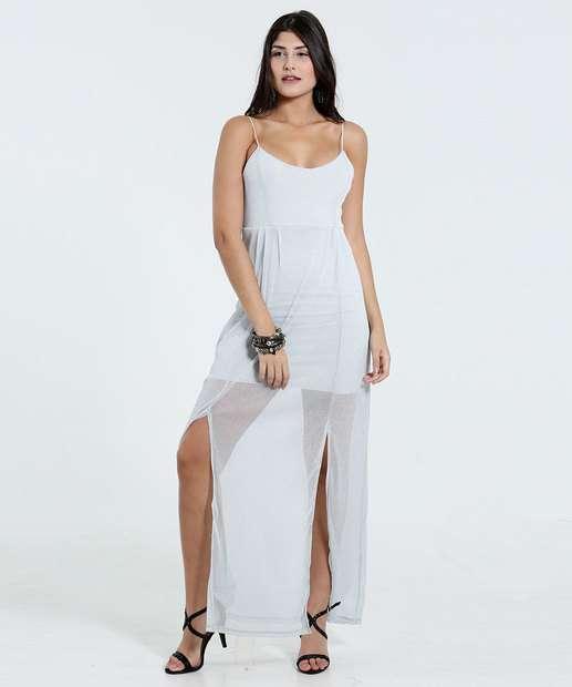 Vestido longo de malha marisa