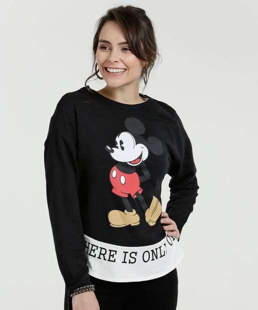 Image_Blusa Feminina Estampa Mickey Manga Longa Disney