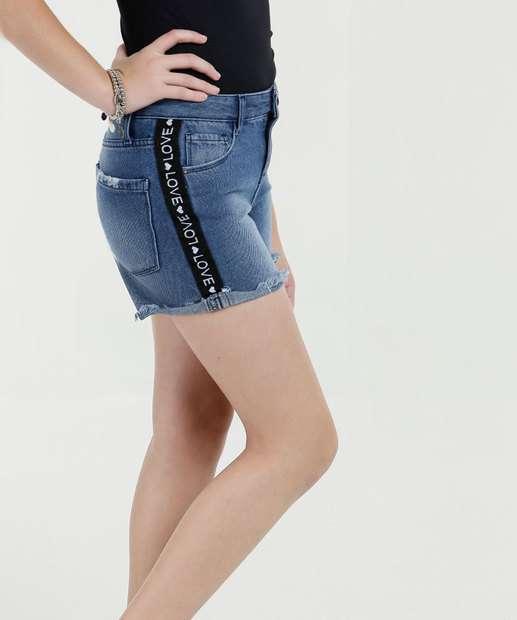 Image_Short Juvenil Jeans Barra Desfiada Marisa